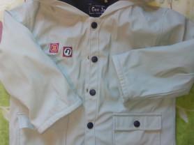 Куртка детская Глория джинс на флисе р.98-110