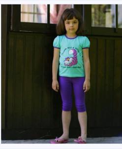 кроткие фиолетовые леггинсы