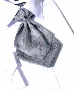 ГАЛСТУК-ЖАБО+платок светло серый