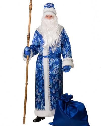 Дед Мороз сатин принт синий (д/взр) р.54-56 арт.194