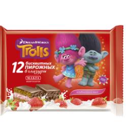 Пирожное Макфа Trolls Клубничный мусс