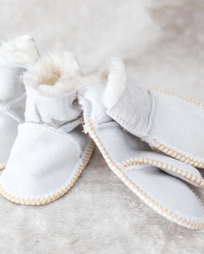 Детский Комплект Белый, 100% овчина