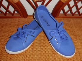 Кеды синие хлопок на шнурках р.40 ст.26 см