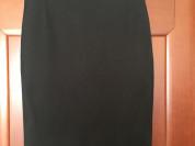 Юбка Gucci Италия S M 42 44 46 б/у чёрная футляр классика миди