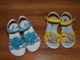 Желтые и голубые сандалии \ босоножки Viviane