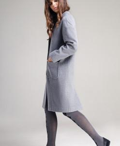 Р1173 пальто       Цвет: серый