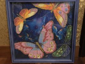 Картина бисером «Бабочки»