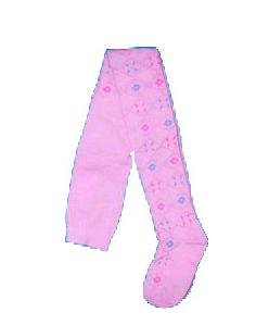 Колготки  ажурные для девочек, розовые 128-134