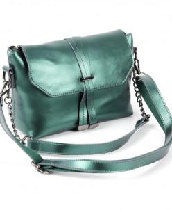 Женская кожаная сумка 1304 Грин