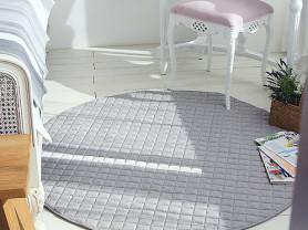 Новый Серый ковер покрывало Linen 140 х 140 см