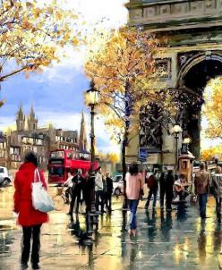 Мой любимый Париж - алмазная мозаика