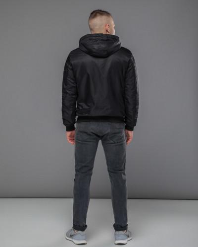 "Качественная черная куртка бомбер Braggart ""Youth"" модель 10"
