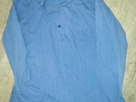 Отдам рубашку 158-164, цвет синий...