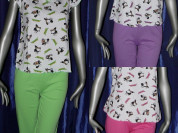 Пижама женская (Футболка + бриджи) Состав: 100% хл