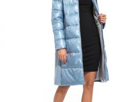 Новое пальто с мехом р.42