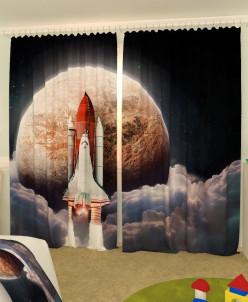 Детские фотошторы Шаттл в космосе (150*260) Блэкаут