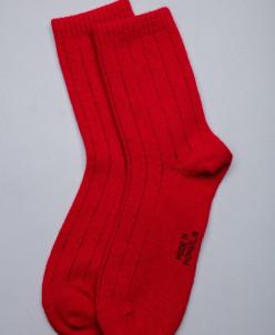 Носки из шерсти облегченные красный, Монголия