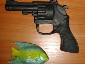 Игрушка пистолет револьвер пластмассовый 17х11 см