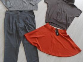 Фирменные брюки, джемперы, юбка р-р 48-50