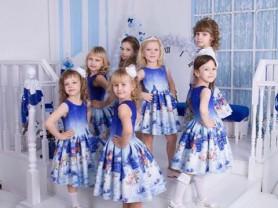 Новогоднее синее платье Стильняшка (Stilnyashka)