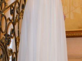 Свадебное платье цвет кремовый (стиль греческий)