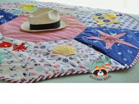 Развивающий текстильный коврик, готовая работа.