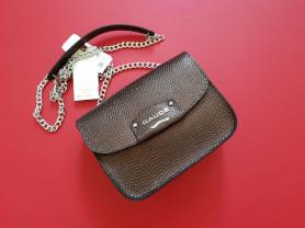 Новая миниатюрная кожаная сумка Италия бронза