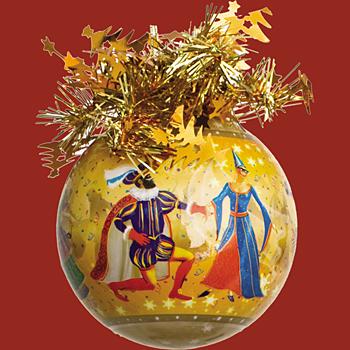 "Шар ""Рождественский"" (Карнавал), диаметр 85 мм, арт. Ш85043"