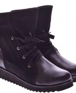 Женские комбинированные ботинки (байка/экомех/цигейка)