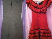 Платье сарафан новое Dolce&Gabbana размер М 46 оранжевое терракотовое вязаное с оборками шерсть Одежда бренд кашемир платья сарафаны тёплое