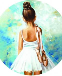 Маленькая балерина - вышивка крестиком