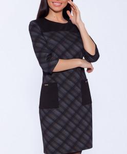 50124 Платье Черный/серый