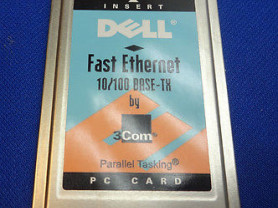 Dell fast ethernet 10/100 base-TX BY 3COM PC card