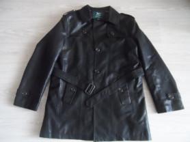 Новый без бирок тренч пиджак натуральная кожа р 50