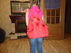рюкзак из кожи новый