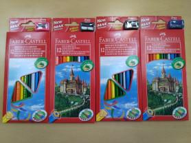 Новые цветные карандаши Faber-Castell 12 + точилка