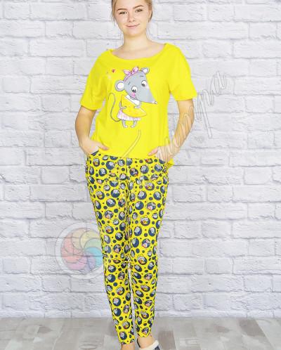 """Пижама """"Мышка с сыром"""", брюки"""