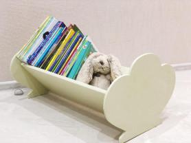 Полка-облако напольная для книг и игрушек