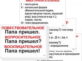 Опорные по русскому языку для начальной школы-56шт