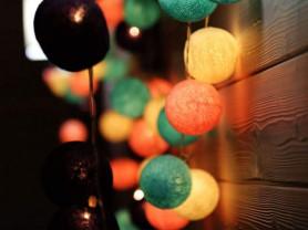 Тайские гирлянды (хлопковые тайские фонарики)