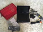 Портотивный плеер DVD Sony+ Сумка+пульт+ автозаряд