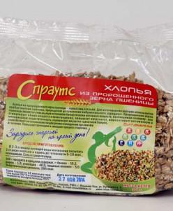 Хлопья из пророщенного зерна пшеницы фасованные (0,3 кг)