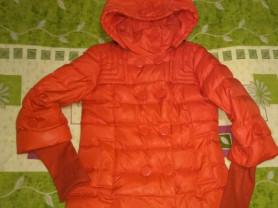 Куртка -пуховик с капюшоном ( можно отстегнуть)