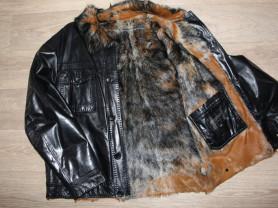 Куртка зима кожаная 52-54р