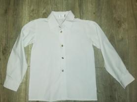 Отдам белую рубашку Глория Джинс р. 116-122, бу со