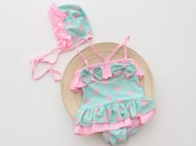 Детские пляжные комплекты(купальник+ шапочка)