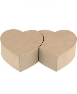 """Love2Art"" PAM-058 ""коробочка-сердца"" папье-маше 20x11.5x5"