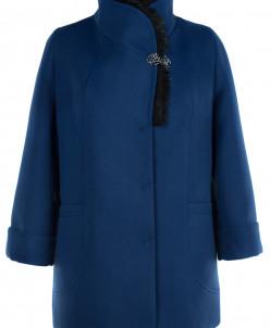 Пальто женское утепленное Кашемир Синий