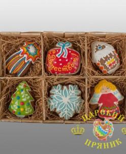 1005-1 Набор пряников ассорти (6 малых) «С Рождеством!»