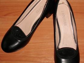 Туфли черные кожа Lookhere р.37 ст. 24.5 см